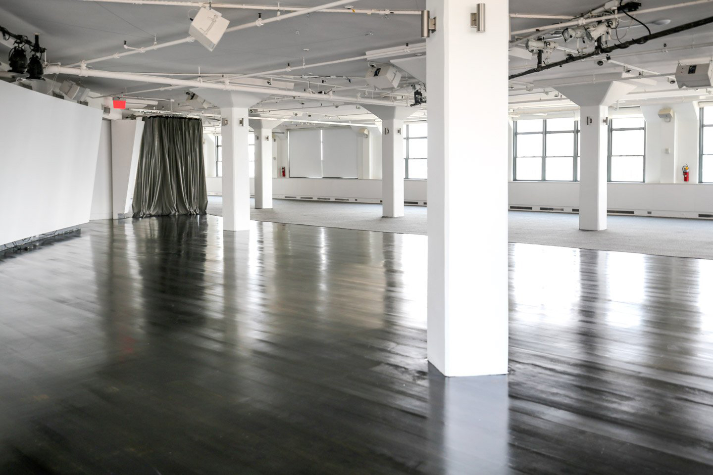 photo: interior white columns and dancefloor at tr360 angle two