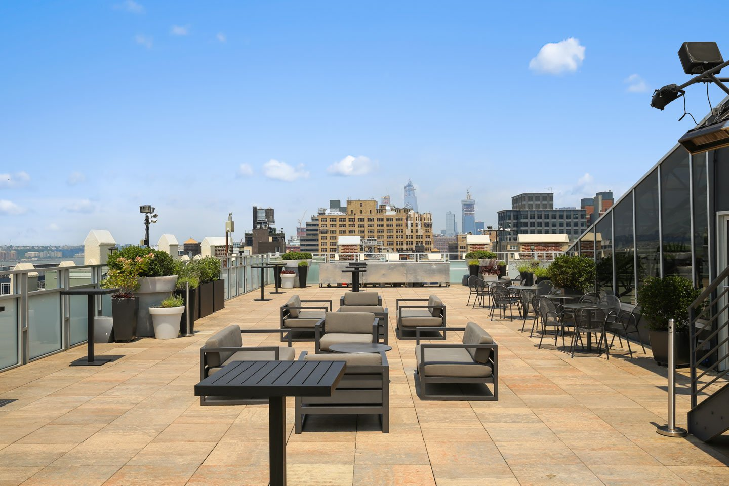 photo: rooftop cocktail space with modern furniture